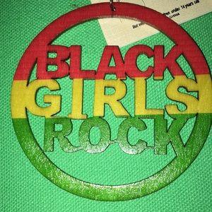 🆕 BLACK GIRLS ROCK WOODEN LASER CUT DISC EARRINGS